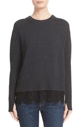 Brochu Walker Women's Looker Lace Hem Sweater