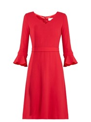Goat Chiara Wool Crepe Dress Pink