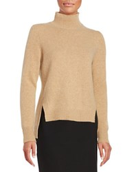 Lord And Taylor Cashmere Hi Lo Sweater Classic Camel