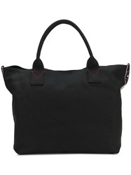 Pinko Sequin Logo Shopper Tote Black
