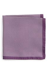 Eton Men's Dot Silk Pocket Square Purple
