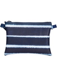 Luisa Cevese Riedizioni Striped Shoulder Bag Blue
