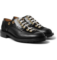 Acne Studios Suede Panelled Leather Derby Shoes Black