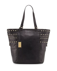 Badgley Mischka Adele Large Leather Tote Bag Black