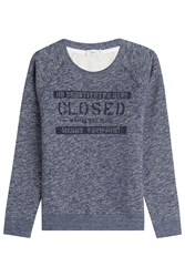 Closed Cotton Sweatshirt Blue