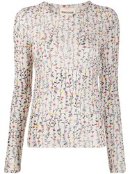 Semicouture Fitted Floral Print Top 60