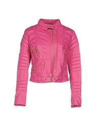 Philipp Plein Coats And Jackets Jackets Women Fuchsia