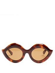 Gucci Cat Eye Acetate Sunglasses Tortoiseshell