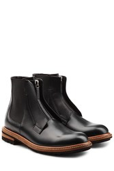 Dolce And Gabbana Leather Boots Black