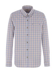 Gibson Men's Navy And Brown Check Shirt Brown