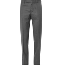 Berluti Slim Fit Wool Trousers Gray