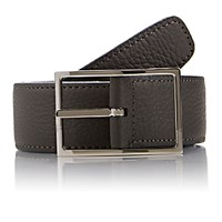 Simonnot Godard Men's Reversible Leather Belt Grey