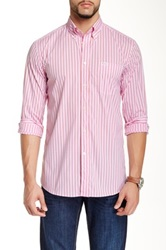Faconnable Long Sleeve Striped Sportswear Shirt Red