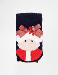 Asos Christmas Mr And Mrs Santa Cosy Socks Navy