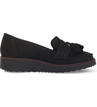 Carvela Limbo Leather Flatform Loafers Black