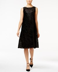 Alfani Petite Burnout Fit And Flare Dress Only At Macy's Optic Dimension