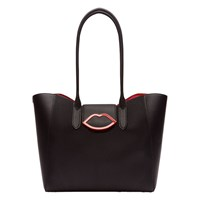 Lulu Guinness Large Cupids Bow Sofia Tote Bag Black