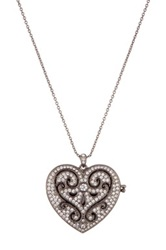 Nadri Cello Heart Locket Pendant Necklace No Color
