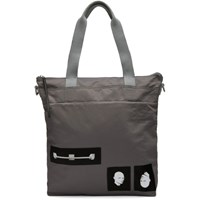 Rick Owens Drkshdw Grey Techno Trench Large Tote Bag