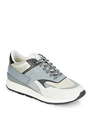 Z Zegna Leather And Suede Sneakers Grey