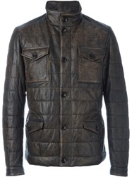 Tod's Four Pocket Padded Jacket Brown