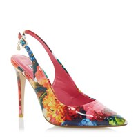 Dune Chelsea Floral Print Sling Back Courts Multi Coloured Multi Coloured