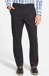 Men's Big And Tall Nordstrom Straight Leg Washed Chinos Black Caviar