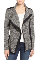 Vince Camuto Women's Two By Asymmetrical Mixed Media Jacket