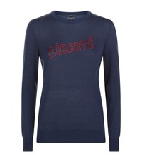 Set Liberte Wool Jumper Female Dk Blue Red