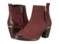 Steve Madden Wantagh Burgundy Nubuck Women's Dress Zip Boots