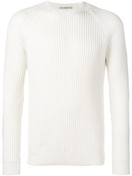 Nuur Long Sleeve Fitted Sweater White