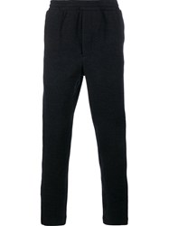 Ami Alexandre Mattiussi Tweed Track Pants Blue