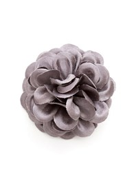 Hook Albert Lapel Flower Pin Grey