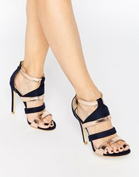 Little Mistress Strappy Heeled Sandals Navy