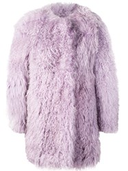 Charlotte Simone Oversized Coat Purple