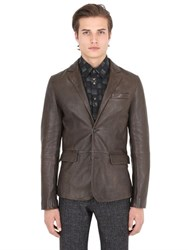 Trussardi Textured Nappa Leather Jacket