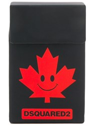 Dsquared2 Logo Smiley Cardholder Black