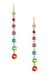 Spring Street Linear Stone Kaleidoscope Earrings Multi