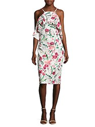 Alexia Admor Floral Off The Shoulder Midi Dress Ivory Multicolor