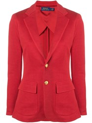 Polo Ralph Lauren Fitted Blazer Red