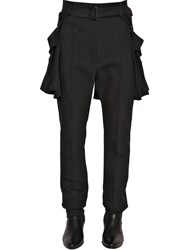 Juun.J Wool Crepe Pants And Belt With Pockets