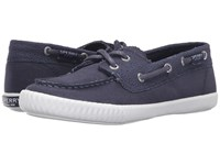 Sperry Sayel Away Perf Canvas Navy Women's Lace Up Moc Toe Shoes