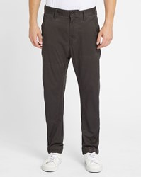G Star Black Wash Bronson Cuffed Elasticated Ankle Chinos