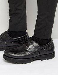 Kickers Bosley Leather Boat Shoes Black