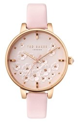 Ted Baker London Kate Leather Strap Watch 36Mm Pink Rose Gold