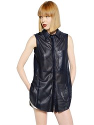 Drome Laser Cut Light Nappa Leather Shirt