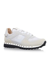 Valentino Studded Camo Sneakers Female White