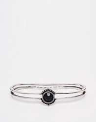 New Look Stone Cuff Bracelet Black