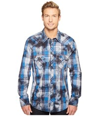 Rock And Roll Cowboy Long Sleeve Snap B2s1251 Blue Men's Clothing