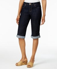 Style And Co Cuffed Bermuda Denim Shorts Light Blue Wash Only At Macy's Rinse